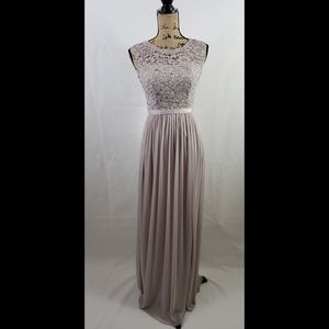 David's Bridal Formal Gown Gray dress size 2